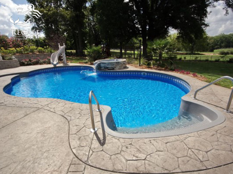 Sango pool spa the backyard place clarksville tn for Pool designs under 30000